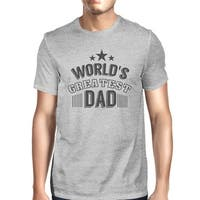 World's Greatest Dad Mens Cotton Graphic Tee Unique Design T-Shirt