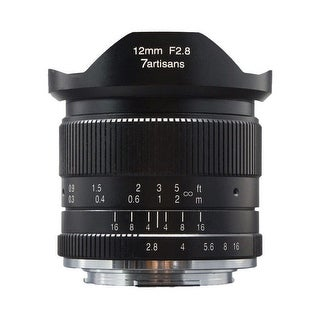7artisans 12mm f/2.8 Manual Lens (Black) for Sony E-Mount Cameras - Black