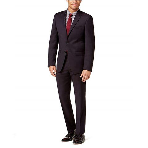 Calvin Klein Mens Textured Two Button Suit