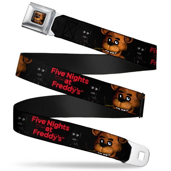 Freddy Face2 Close Up Full Color Black Five Nights At Freddy's Freddy Face2 Seatbelt Belt