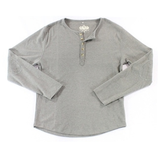 Red Jacket NEW Heather Gray Mens Size Small S Long Sleeve Henley Shirt