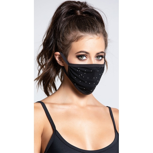 Studded Face Mask - One Size Fits Most by  Coupon