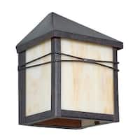 """Sunset Lighting F4650 1-Light 8"""" Height Outdoor Wall Sconce - Rubbed Bronze - N/A"""