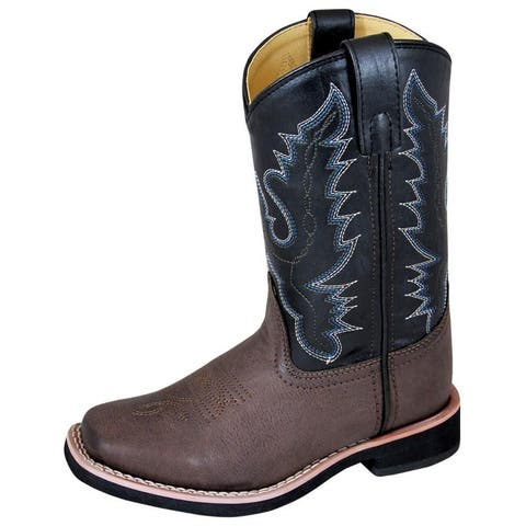 Smoky Mountain Western Boots Boys Tyler Child Brown Black
