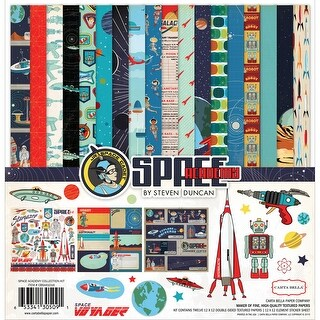 "Carta Bella Collection Kit 12""X12""-Space Academy"