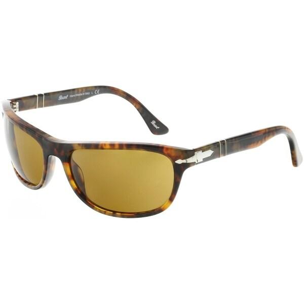 6f1a71a16e Shop Persol Men s PO3156S-108 33-63 Brown Rectangle Sunglasses ...