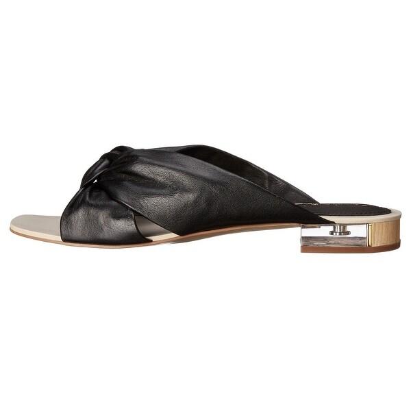 Calvin Klein Womens Ambra Cervo Open Toe Beach Slide Sandals