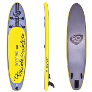 Costway 11' Inflatable Stand Up Paddle Board SUP w/ 3 Fins Adjustable Paddle Backpack
