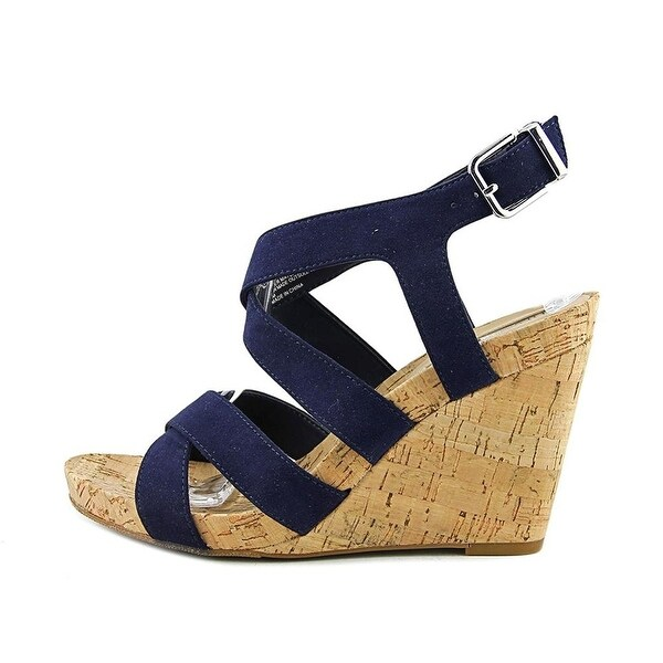 INC International Concepts Womens Landor Fabric Open Toe Casual Platform Sand...