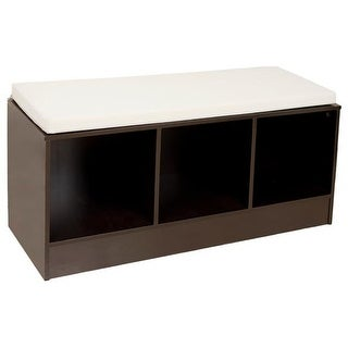 Danya B. BQ0330 Storage Bench With Canvas Cushion
