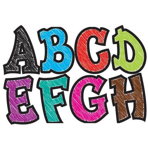 Modern Hip Asst Chalk Colors 2.75In Designer Magnetic Letters
