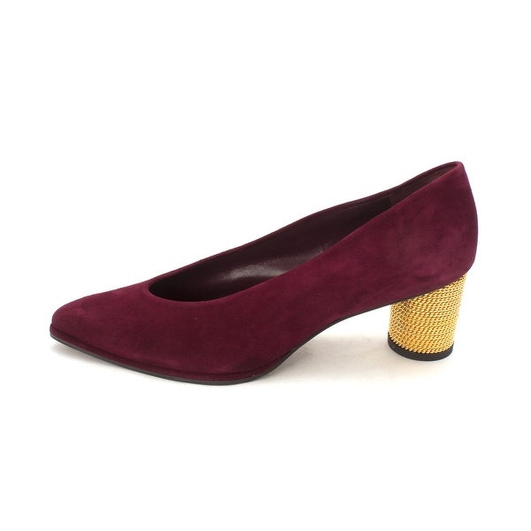 Stuart Weitzman Womens oval pump Suede Pointed Toe Classic Pumps - 9