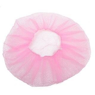"Unique Bargains Round Fan Elastic Cuff 14.6"" Dia Pink Mesh Design Cover"