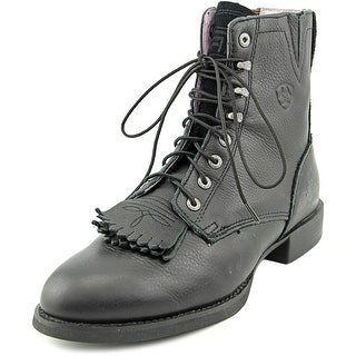Ariat Heritage Lacer II Women Round Toe Leather Black Ankle Boot