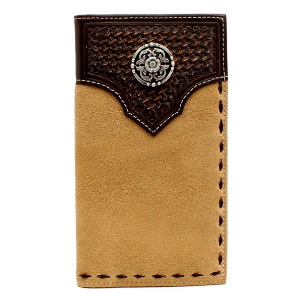 Ariat Western Wallet Mens Rodeo Weave Concho Overlay Natural - One size