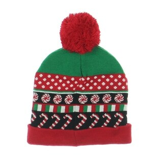 Planet Gold Winter Hat Holiday Candy Cane