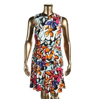 Lauren Ralph Lauren Womens Casual Dress Floral Print Sleeveless