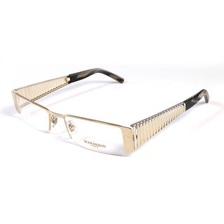 Boucheron Unisex 22kt Gold Plated Semi-Rectangle Eyeglasses Gold/Shiny Palladium - S