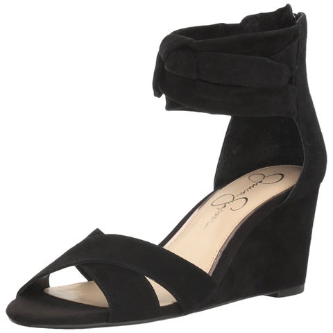 Jessica Simpson Womens Cyrena Leather Open Toe Casual Platform Sandals