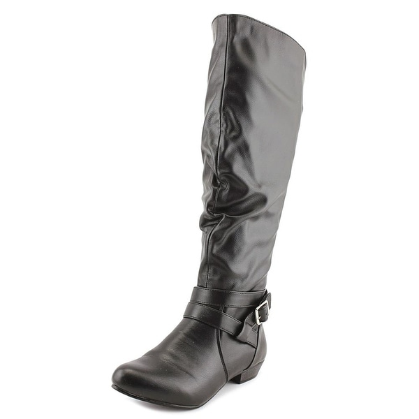 Fergalicious Lara Women Round Toe Synthetic Black Knee High Boot