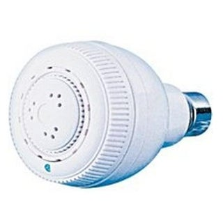 Mintcraft B1088WH 3-Setting Fixed Showerhead, White