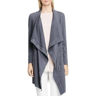 Two by Vince Camuto Womens Knit Blazer Asymmetric Long Sleeves