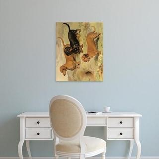 Easy Art Prints Vero Shaw's 'Dachshunds' Premium Canvas Art