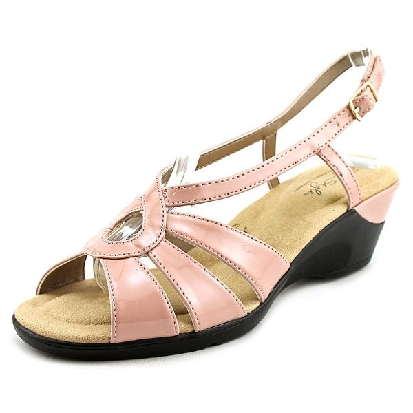 Soft Style by Hush Puppies Paci Women W Open Toe Synthetic Pink Wedge Sandal