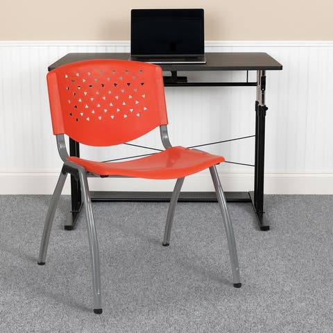880 lb. Capacity Plastic Stack Chair with Powder Coated Frame