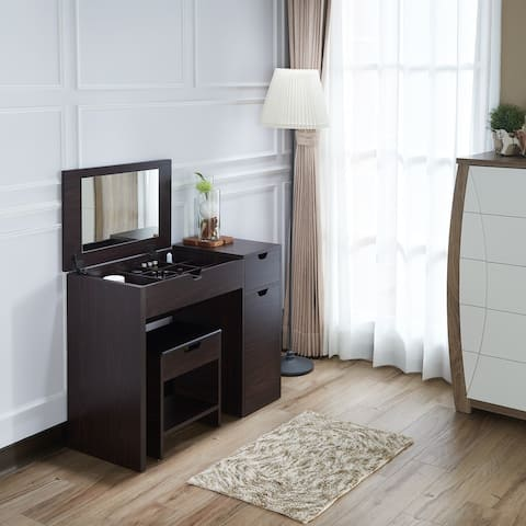 Furniture of America Laurel Multi-Storage Vanity Set