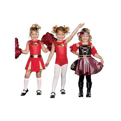 High Spirits 3 In 1 Cheerleader Gymnast Pirate Costume Child - Red