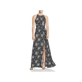 MICHAEL Michael Kors Womens Maxi Dress Halter Floral Print