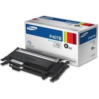Samsung B2B CLT-P407B Samsung Twin Pack Black Toner for CLP-32x, CLX-318x Series Laser Printers - Black - Laser - 1500 Page - 2