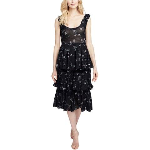 Rachel Roy Womens Tiered Ruffled Dress
