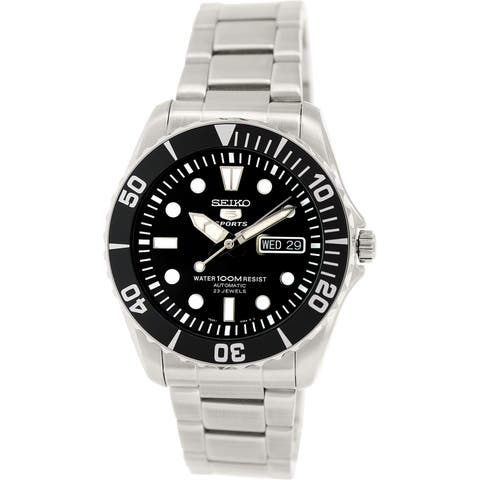 069516eea7a Seiko Men's 5 Automatic Silver Stainless-Steel Plated Fashion Watch