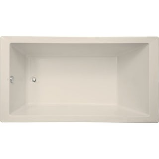 "Mirabelle MIRSKS6636  Sitka 66"" X 36"" Acrylic Soaking Bathtub for Drop In or Undermount Installations with Reversible Drain"