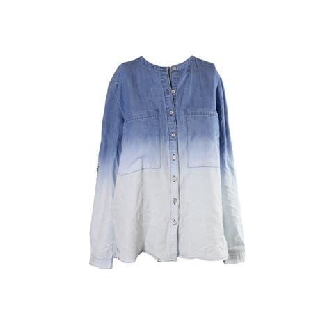 Vintage America Blue Ombre Denim Shirt XS