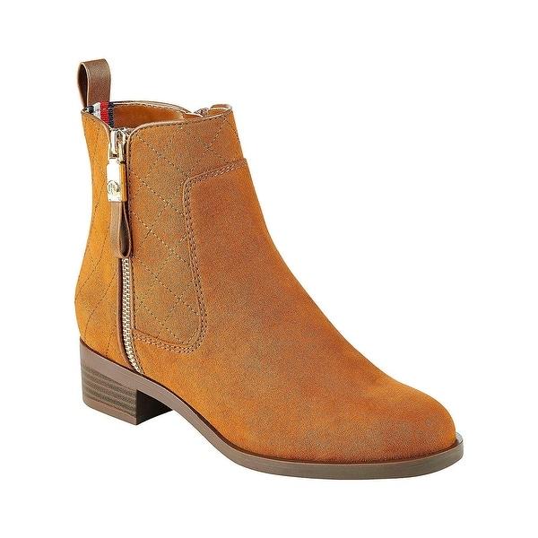 7b70d403 ... Women's Shoes; /; Women's Boots. Tommy Hilfiger Women's Patron Ankle  Boot - Saddle