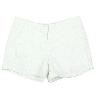 Vince Camuto Womens Cotton Eyelet Casual Shorts