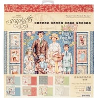 """Graphic 45 Double-Sided Paper Pad 12""""X12"""" 24/Pkg-Penny's Paper Doll, 8 Designs/3 Each"""