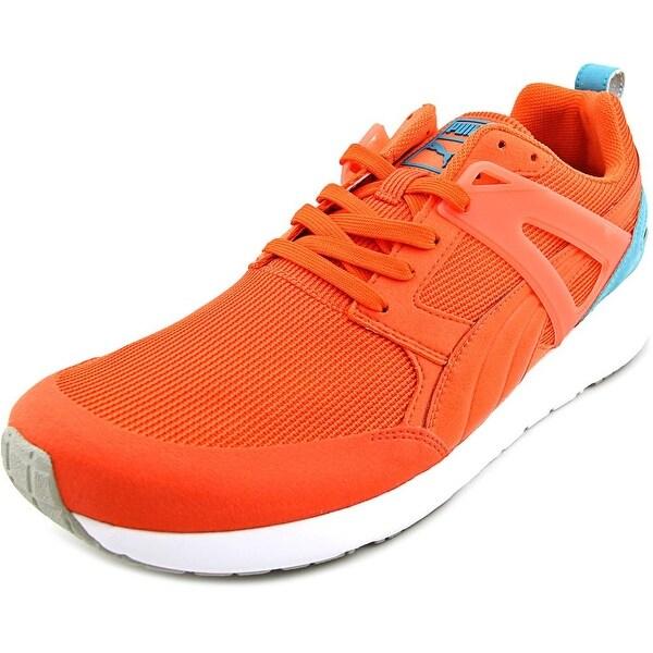 Puma Arial Men Round Toe Canvas Orange Sneakers
