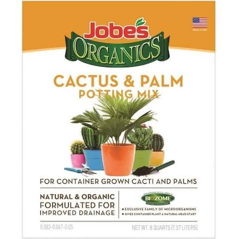 Easy Gardener 08788 Jobes Cactus & Palm Potting Mix, 8 Quart