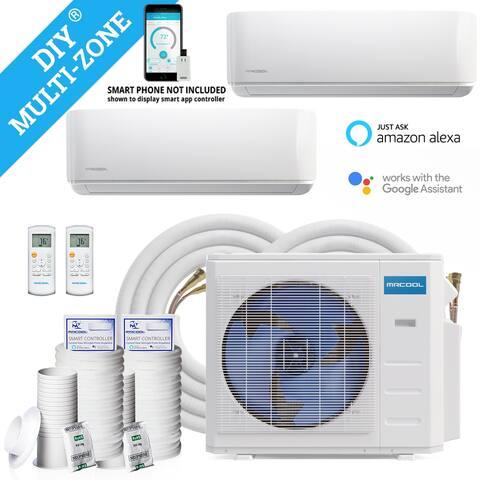 18,000 BTU 1.5 Ton 2-Zone Ductless Mini-Split Air Conditioner and Heat Pump