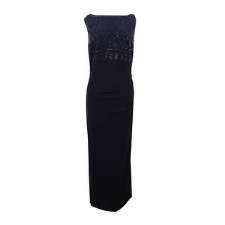 Jessica Howard Women's Sequined Cutout-Back Gown - Black (2 options available)