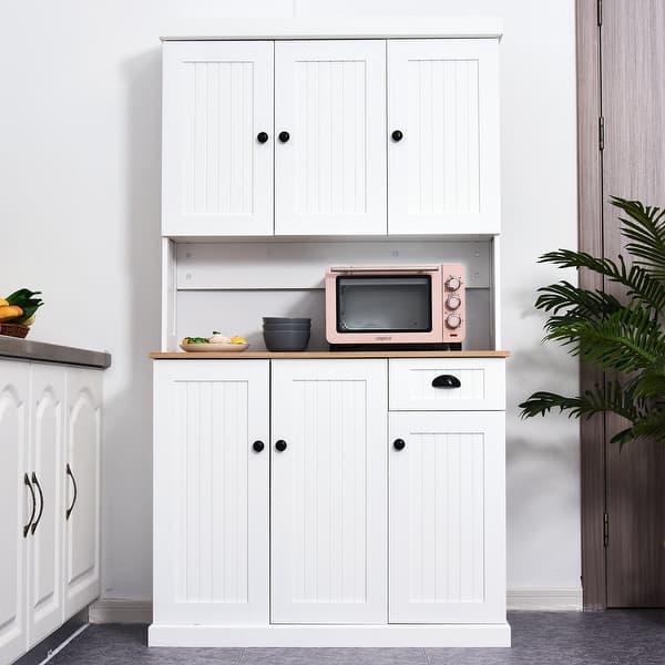 Homcom 71 Wood Kitchen Pantry