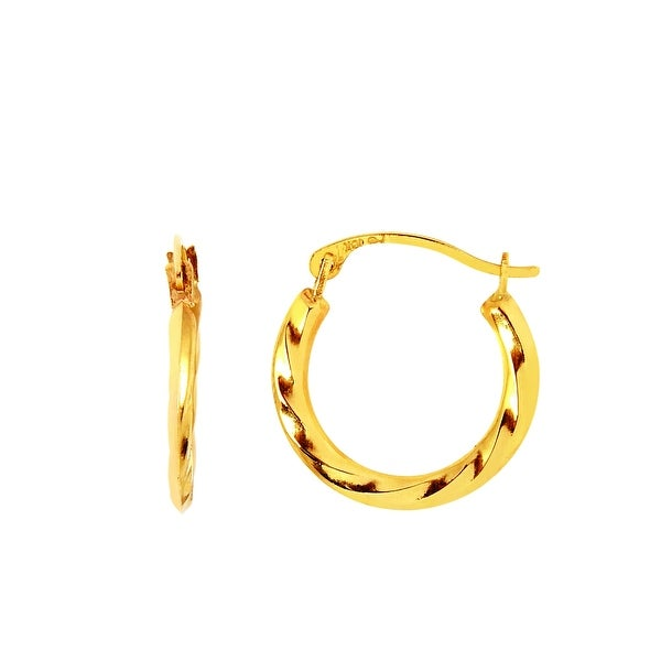 Mcs Jewelry Inc 14 Karat Yellow Gold Small Hoop Earrings For Kids Or Babies