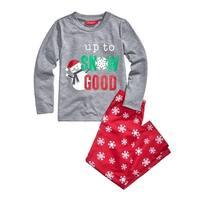 Family PJs Snowman Two-Piece Pajamas Kids Christmas