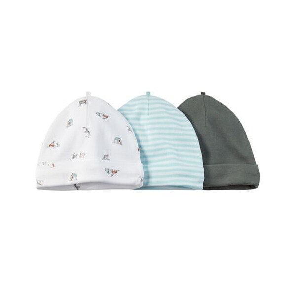 cf4709693cd Shop Carter s Baby Boys  3 Pack Caps- Olive Puppy - 0-3 Months - Free  Shipping On Orders Over  45 - Overstock - 27352046