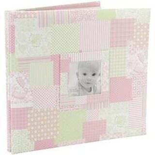 """Pink - Baby Post Bound Scrapbook W/Window 12""""X12"""""""