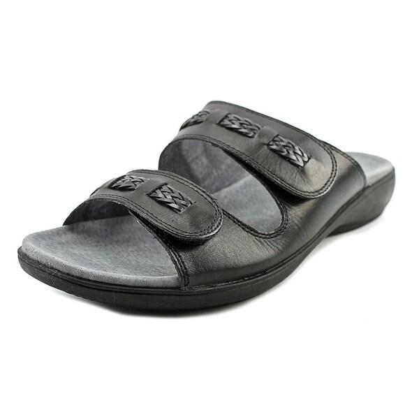 Trotters Kap W Open Toe Leather Slides Sandal